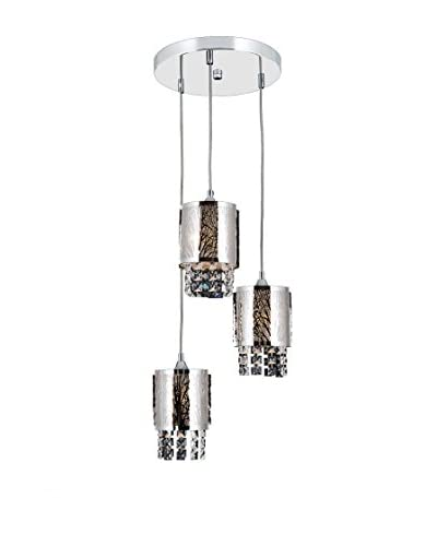 Lámpara De Suspensión Apex Plateado