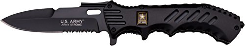 U.S. ARMY A-A1020CB Closed Spring Assisted Folder Knife, 5-Inch