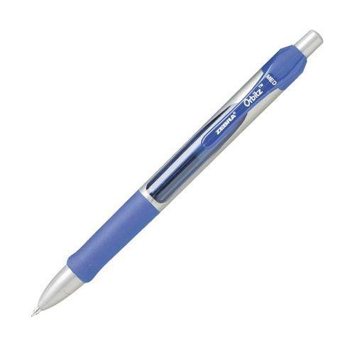 orbitz-roller-ball-retractable-gel-pen-blue-ink-medium-dozen-by-zebra-english-manual