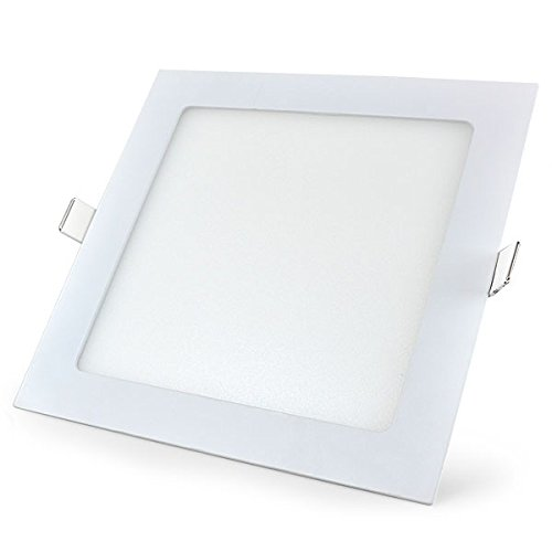 53 off on 8w square led panel light pack of 10 on amazon. Black Bedroom Furniture Sets. Home Design Ideas