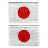 シールワッペン 国旗 日の丸(中2枚入) 3組セット