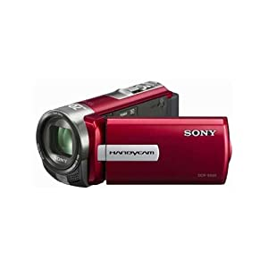 Sony DCR-SX45E Camcorder (Red) with 16GB SD Card + Camera Case