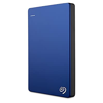 Seagate Backup Plus Slim 1TB Portable External Hard Drive with Mobile Device Backup USB 3.0 (Blue) STDR1000102