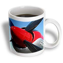 3Drose Propeller Airplanes Photography Ceramic Mug, 11-Ounce