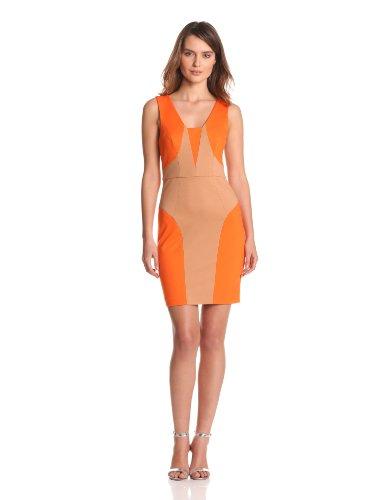 Tracy Reese Women's Combo Shift Dress, Orange, 0