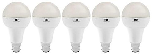 15W B22 White Led Lights (Set of 5)