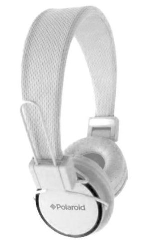 Polaroid Noise Isolating Foldable Studio Headphones Iphone/Ipad/Ipod Compatible - White