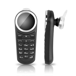 Chromo Inc. Mini Phone Bluetooth Headset With Oled Display And Full Keypad And Fm Radio