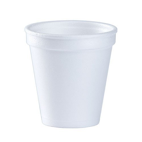6 Oz. White Disposable Drink Foam Cups Hot and Cold Coffee Cup (Pack of 102)