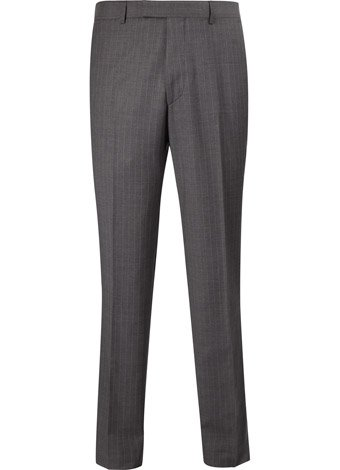 Austin Reed Contemporary Fit Grey Pinstripe Trousers SHORT MENS 30