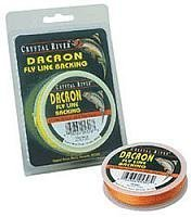 Crystal River Dacron Fly Line Backing, 50 Yards (Orange) from South Bend