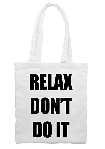 Relax Don't Do It 1980s Party Shoulder Bag (White)