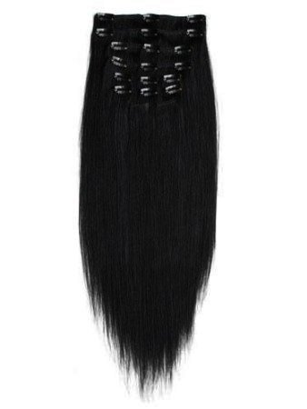 clip in extensions haarverl ngerung 100 g echthaar schwarz. Black Bedroom Furniture Sets. Home Design Ideas