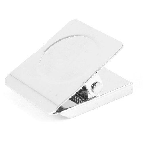 Silber Ton Kühlschrank Kühlschrank Wand Hinweis Memo Clamp Magnetic Clip