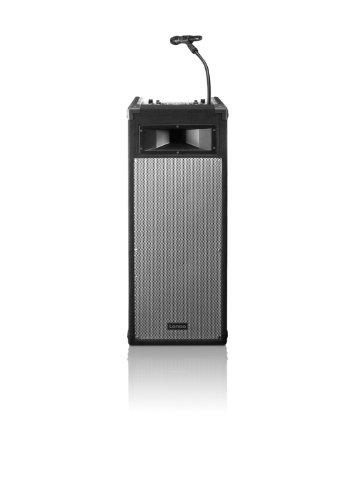 Lenco PA-1500 Mobiles Soundsystem mit 2x USB und Mixer (792 integrierte Jingels, ID3-Tag, AUX-Funktion)