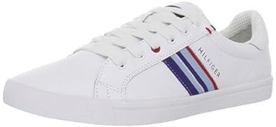 Tommy Hilfiger Men's Elvi Sneaker,White Multi Leather,8.5 M US