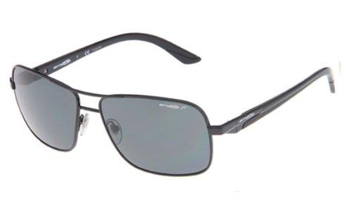 Arnette Sunglasses Stakeout Frame Gunmetal with Gray Horn Temples Lens Gray