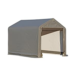 Click to buy ShelterLogic 6x6x6.5 E Series Shed (Gray) from Amazon!