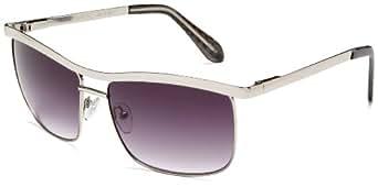 Colors in Optics Women's CS112S Metal Sunglasses,Silver Frame/Gradient Smoke Lens,one size