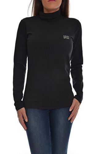 <p>LIU JO SPORT T-shirt lupetto manica lunga donna, T66139 blu/nero, slim fit</p>