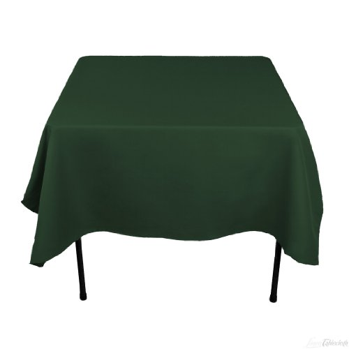 70 Inch Square Polyester Tablecloth Hunter Green