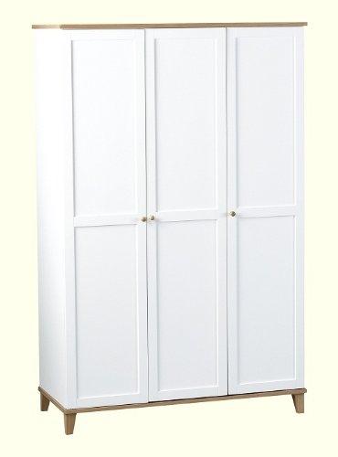 Arcadia 3 Door Wardrobe in White/Ash Veneer