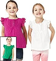 3 Pack Pure Cotton Broderie T-Shirts
