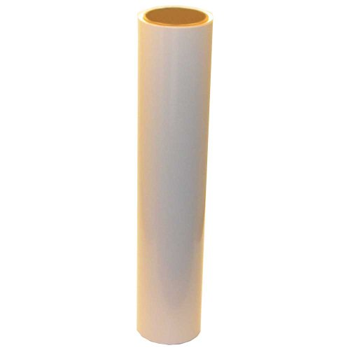 Vinyl Oasis Craft & Hobby Vinyl - Gloss White W/ Permanent Adhesive - 12 In. X 10 Ft. Roll