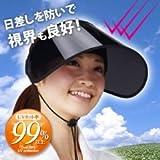 アイメディア しっかりUVcutサンバイザー紐付 ワイドブラック (¥ 995)