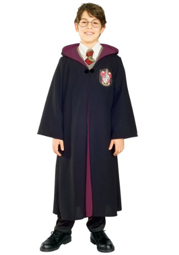 Rubies Costume Deluxe Harry Potter Child's Costume Robe With Gryffindor Emblem