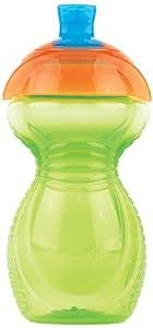 Munchkin 011508 Munchkin - Vaso con boquilla y pajita (cierre de clic, antigoteo), color verde en BebeHogar.com