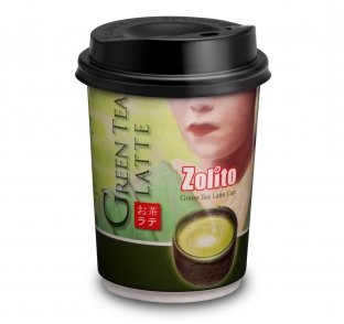 Zolito Fresh Coffee Cup-green Tea Latte 1 Carton : 24 Cups