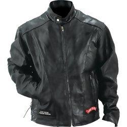 Diamond Plate Rock Design Genuine Buffalo Leather Motorcycle Jacket Extra Large Nylon Lining from Diamond Plate