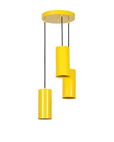 Light&Design Lámpara De Suspensión Amarillo
