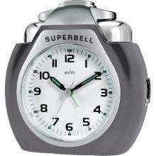 Acctim 13977 Superbell Alarm Clock, Titanium