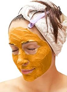 PUMPKIN Face MASK, AHA 12%, Glycolic Acid Peel, At Home Facial Spa Treatment, 3 oz, by IQ Natural