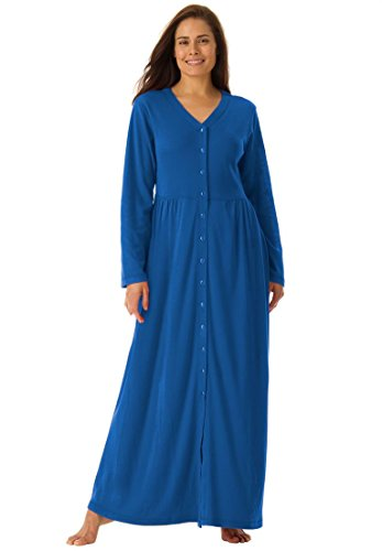 only-necessities-womens-plus-size-long-knit-lounger-cobalt-bluem