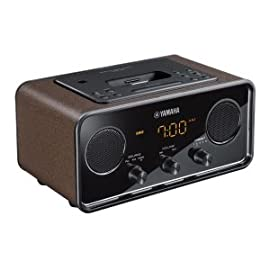 Yamaha TSX-70BR Desktop Audio System for iPod/iPhone (Brown)