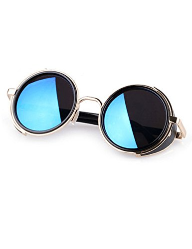 LIKEOY Unisex Retro Round Anti-UV Lens Metal Frame Goggles Sunglasses A1 (Through Alternative Lenses compare prices)