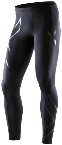 2XU Men's Compression Recovery Tights (Black/Black, X-Large)