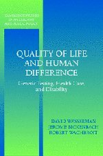 Quality of Life and Human Difference 0521539714