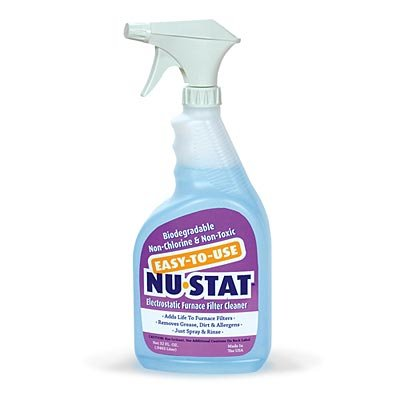 Nu-Stat Permanent Furnace Filter Wash - 32-oz. Spray Bottle