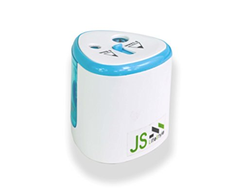 Double Holes Automatic Pencil Sharpeners Battery Mode with Extra Replacement Blade.Fits Pencil from 6-12 mm.