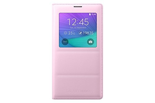 Samsung Galaxy Note 4 S-View Flip Cover - Retail Packaging - Pink