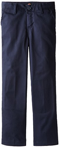 Dickies Khaki Little Boys' Flex Waist Stretch Pant, Dark Navy, 7 Regular
