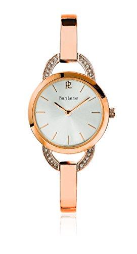 Pierre Lannier - 037F929 - Tendance - Montre Femme - Quartz Analogique - Cadran Argent - Bracelet Acier Rose