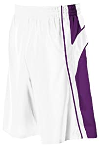Buy Alleson 547P2 Adult Dazzle Basketball Shorts WH PU - WHITE PURPLE AM