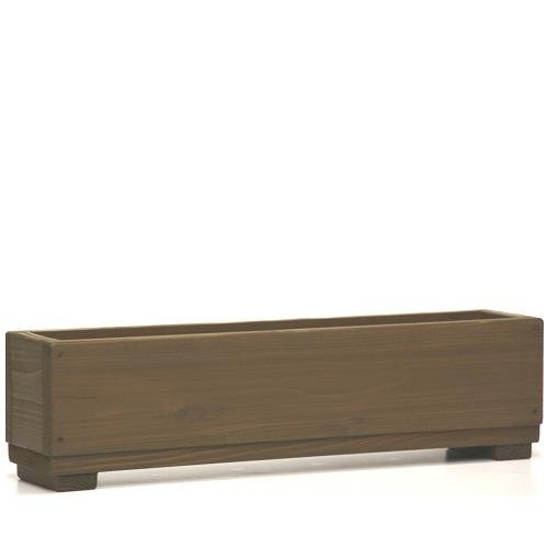Welcome wood ラインプランター60型 さりげなく隅っこガーデニング! アンバーブラウン 容量・約5.7リットル