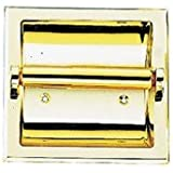 MINTCRAFT CSB107 Brass Recessed Paper Holder