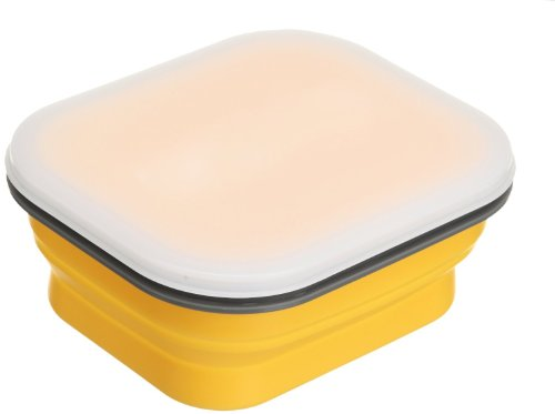 Lexington SNABXM-YEL-129C Medium Silicone Collapsible Snack Box - Yellow